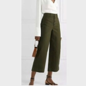 NEW Madewell Stretch Cotton Canvas Wide Leg Pant